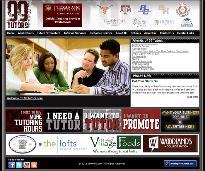 Advertise With 99 Tutors In TAMU, UT, Sam Houston, Texas State