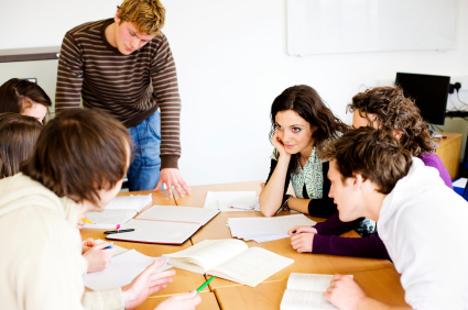 GroupTutoring where a small group of students in the same course meet with a tutor